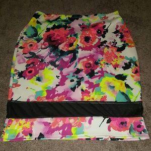 NWOT colorful midi skirt
